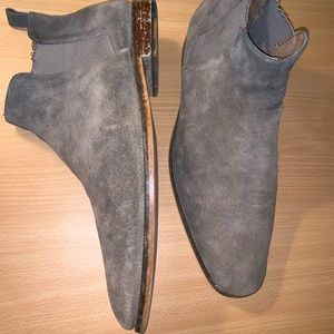 MOVING SALE - Distressed Grey Suede Chelsea Boots
